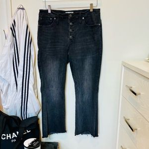 Madewell Cali-Boot Step Hem Buttonfly Jeans